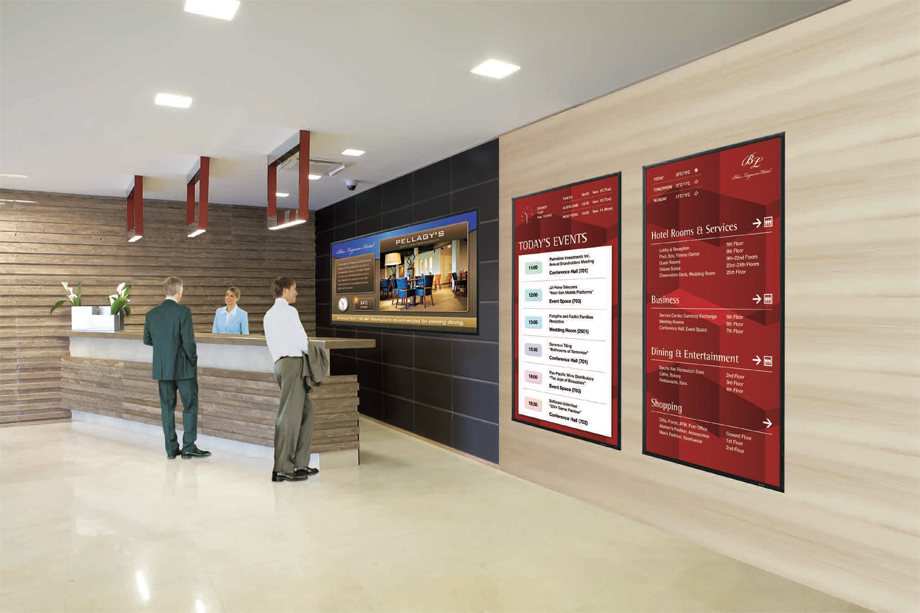 Digital Signage For Hotels Allied Branding Solutions